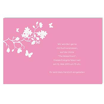 Einlegekarte individuell - Blumen der Liebe - 1
