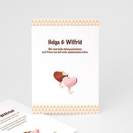 Originelle Hochzeitskarten  Eis