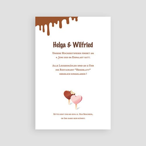 Einladungskarten Hochzeit  - Eis 3125 test
