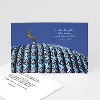 Trauer Danksagung muslimisch - Kartenmodell für eine Gedenkfeier - 1