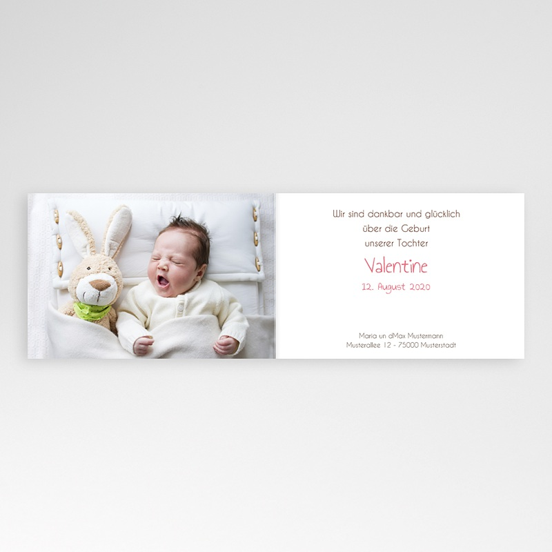 Geburtskarten für Mädchen Luzie pas cher