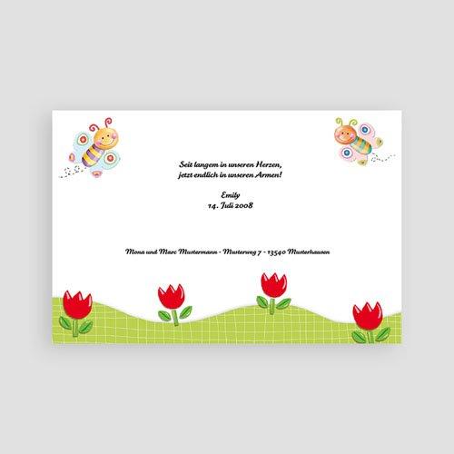 Geburtskarten für Mädchen - Schmetterlingsrahmen 3141 test