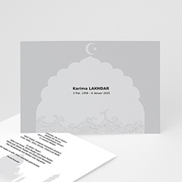 Muslimische Trauerkarte - 1