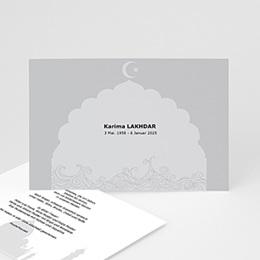Karten Décès Musulman Abid