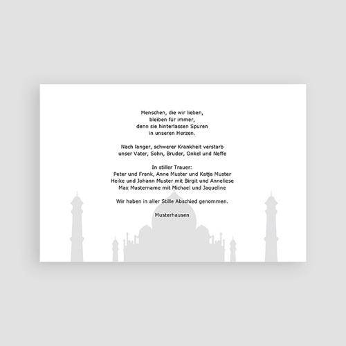 Trauer Danksagung muslimisch - Abid 3153 test