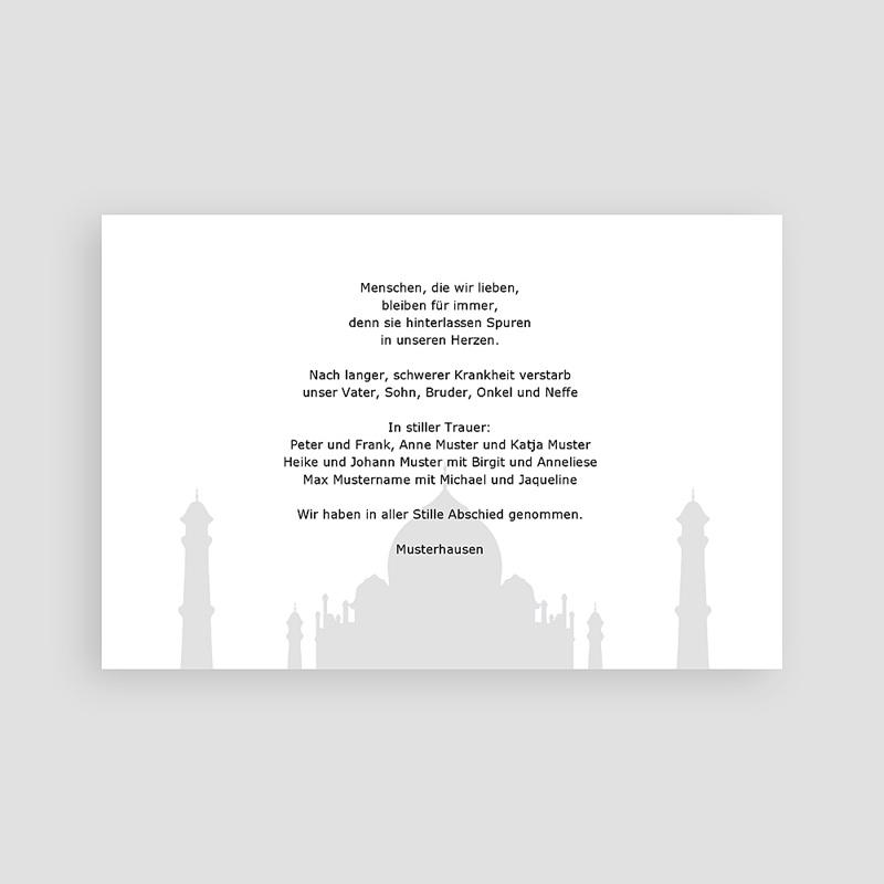 Muslimisch Dankeskarten Trauer Abid pas cher