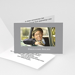 Trauer Danksagung weltlich - Universelle Trauerkarte - 1
