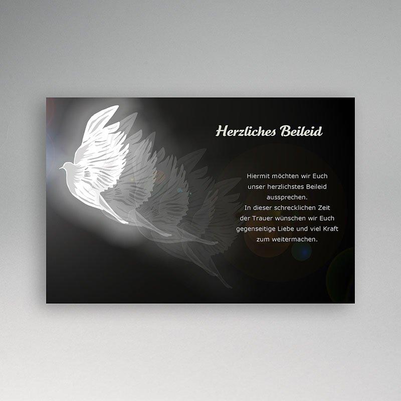 Weltlich Dankeskarten Trauer Taube flieg