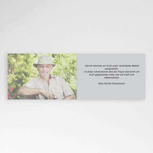 Trauer Danksagung weltlich - Beileidsbekundung Armin 3201 preview