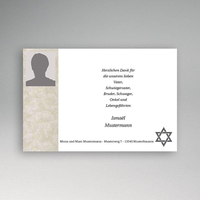 Israelitisch Dankeskarten Trauer Jahreszeiten