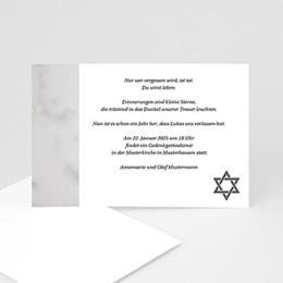 Trauer Danksagung israelitisch - Trauerkarte - 1