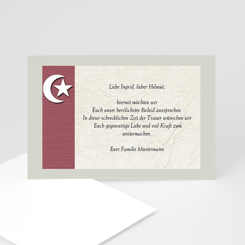 Muslimisch Dankeskarten Trauer Mondsichel braun