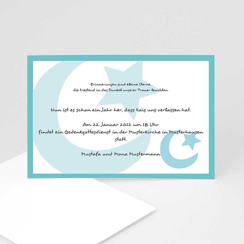 Trauer Danksagung muslimisch - Blaue Mondsichel 1 3220 thumb