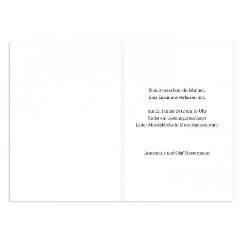Trauer Danksagung christlich - Himmlischer Frieden 3229 test