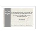 Trauer Danksagung israelitisch - Davidsstern 3240 thumb