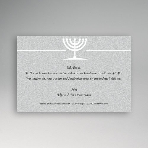 Trauer Danksagung israelitisch Menohra 1