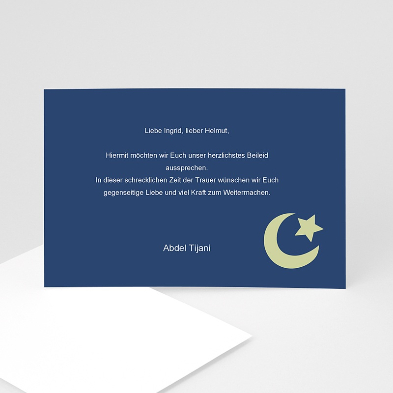 Muslimisch Dankeskarten Trauer Mond - Nachtblau