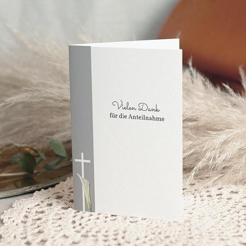 Christlich Dankeskarten Trauer Licht