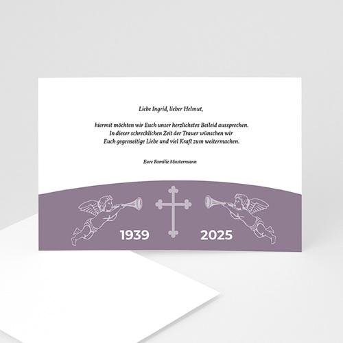 Trauer Danksagung christlich - Banderole 3272 test