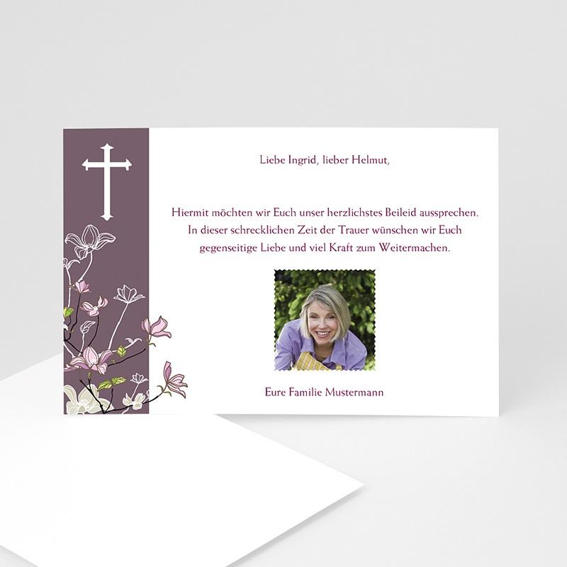 Christlich Dankeskarten Trauer Violett