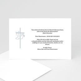 Trauer Danksagung christlich Taube und grauer Rahmen