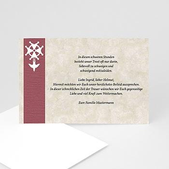 Trauer Danksagung christlich - Hugenottenkreuz in Braun - 1