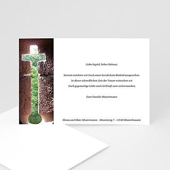 Trauer Danksagung christlich - Leuchtendes Kreuz - 1