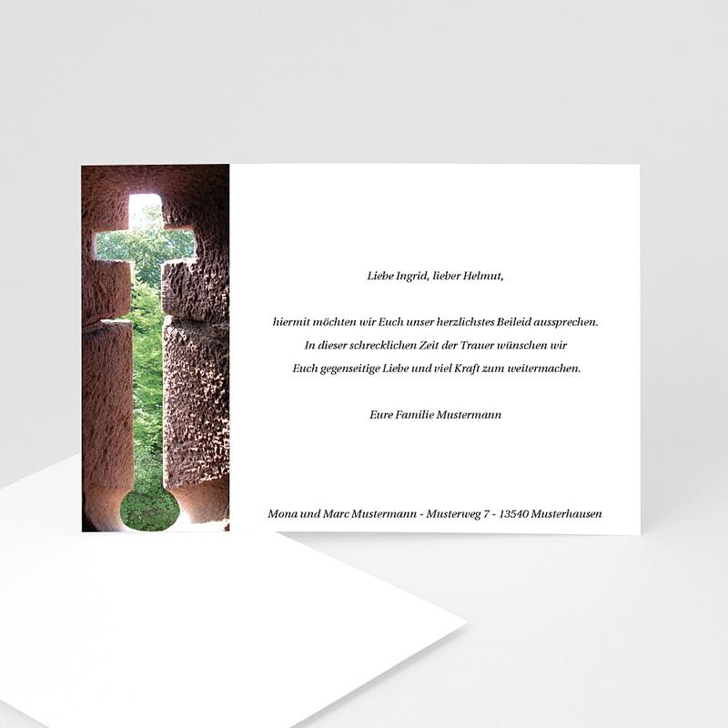 Christlich Dankeskarten Trauer Kreuz der Hoffnung