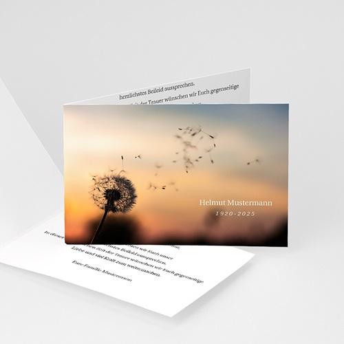 Weltlich Dankeskarten Trauer Sonnenaufgang