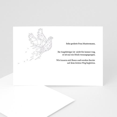 Weltlich Dankeskarten Trauer Auf ewig