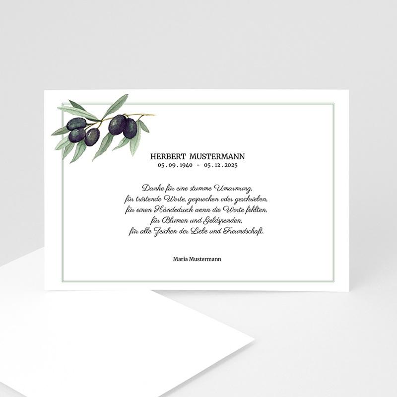 Trauer Danksagung weltlich Olivenbaum