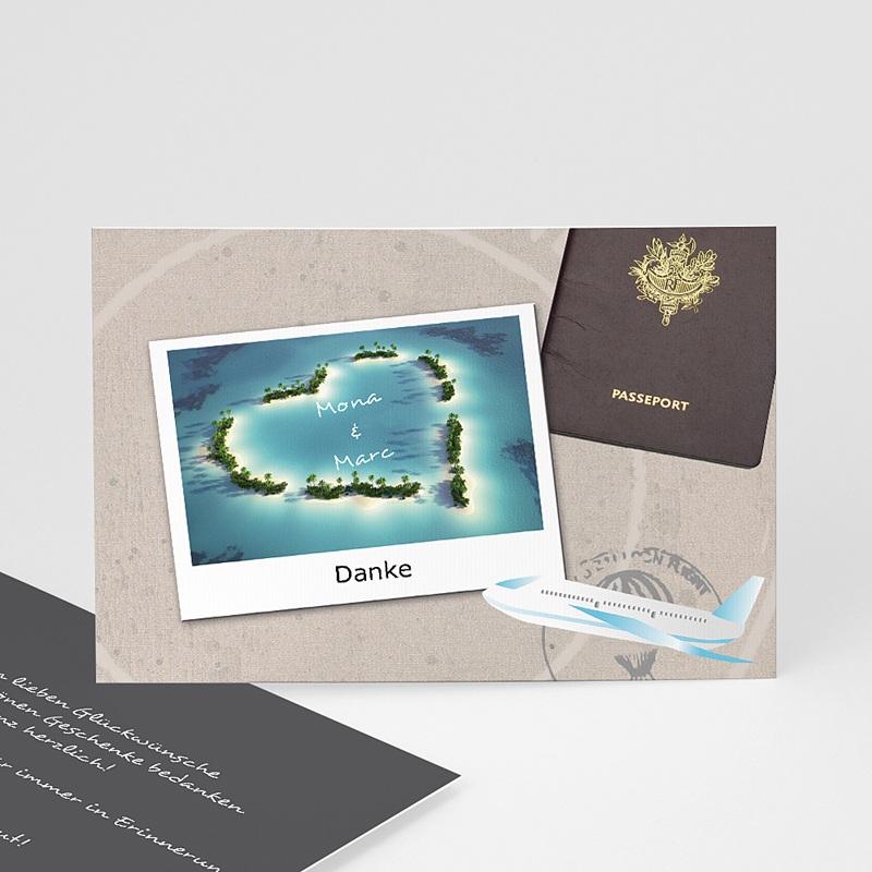 Danksagungskarten Hochzeit  Urlaubsreise