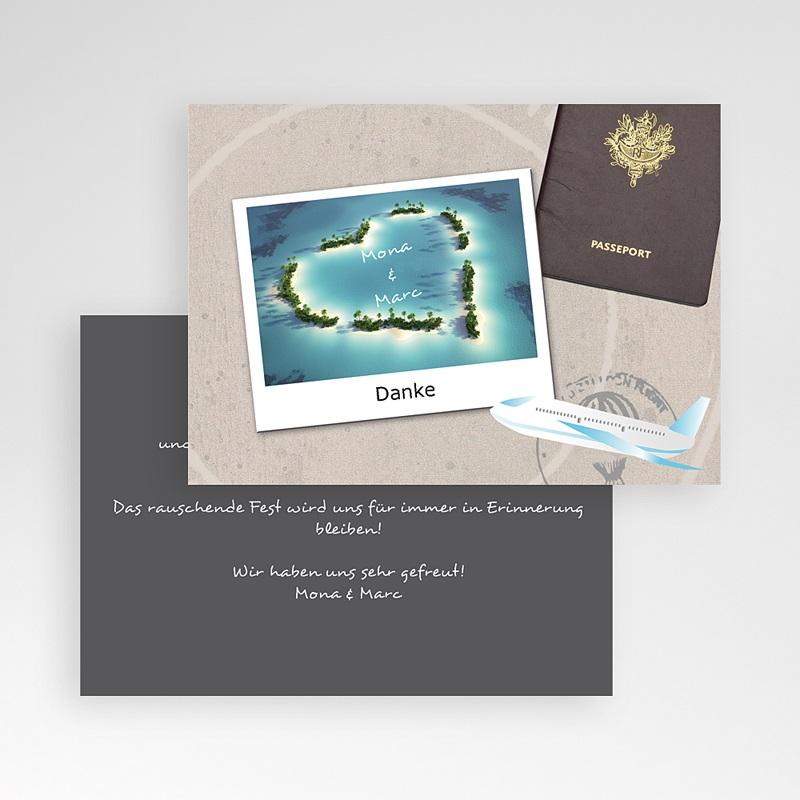 Danksagungskarten Hochzeit  Urlaubsreise pas cher