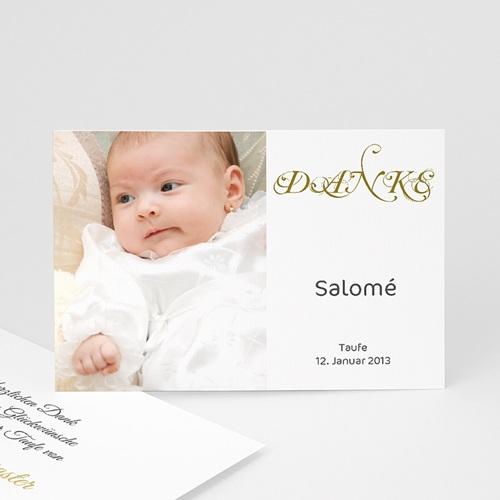 Dankeskarten Taufe Jungen - Schlicht 335