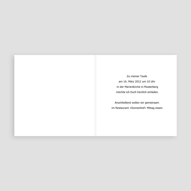 Einladungskarten Taufe Mädchen - Julia 3365 thumb