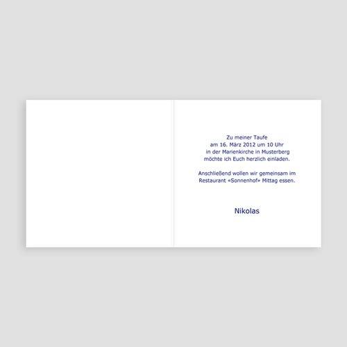 Einladungskarten Taufe Jungen  - Jesper 3369 test