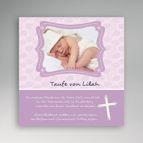 Einladungskarten Taufe für Mädchen Helen