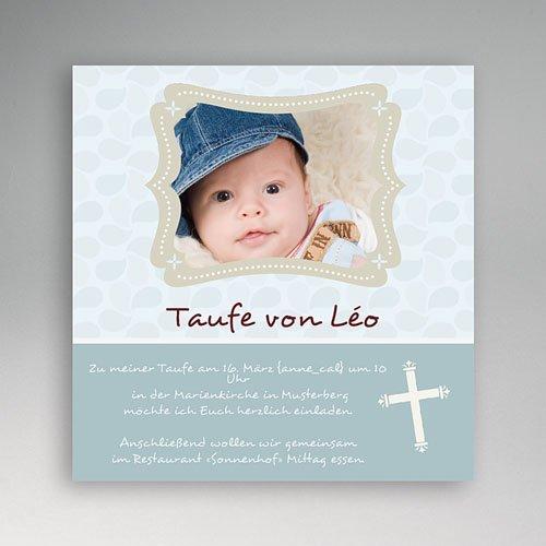 Einladungskarten Taufe Mädchen - Iris 3376