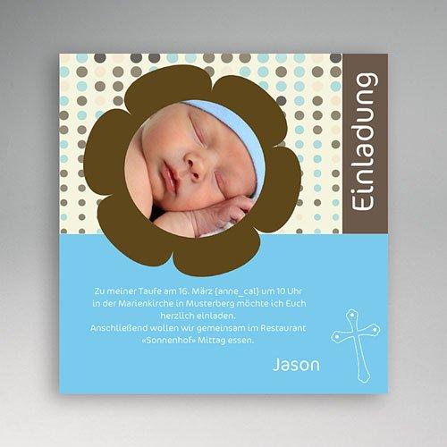Einladungskarten Taufe Jungen  - Fynn 3400 thumb