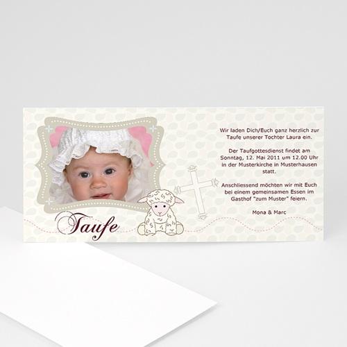 Einladungskarten Taufe Mädchen - Schäfchen 3404