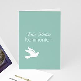 Einladungskarten Kommunion Jungen Streifenmusterdesign