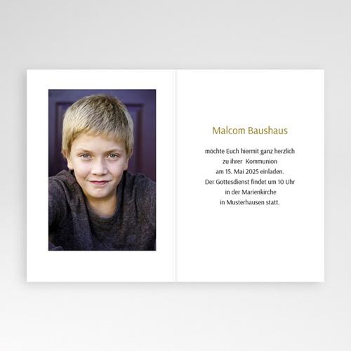 Einladungskarten Kommunion fur Jungen Streifenmusterdesign pas cher