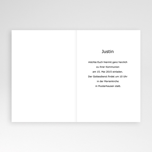 Einladungskarten Kommunion Jungen - Biblisch 3425 test