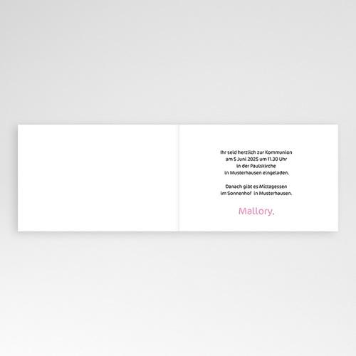 Einladungskarten Kommunion Mädchen - Dragees 3433 test