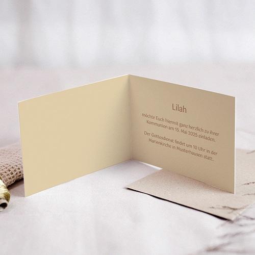 Einladungskarten Kommunion Mädchen Kelch mit Brot pas cher