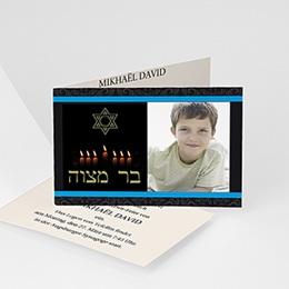Karten Bar Mitzvah Kerzenschein