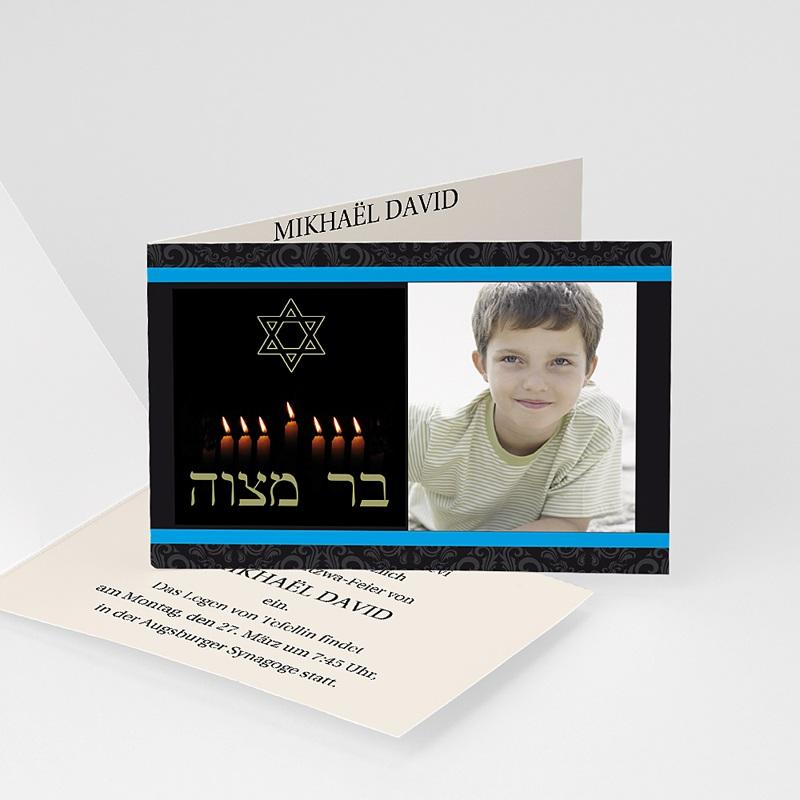 Einladungskarten Bar Mitzwah Kerzenschein