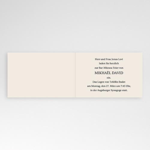 Bar Mitzwah Einladung - Kerzenschein 3461 test
