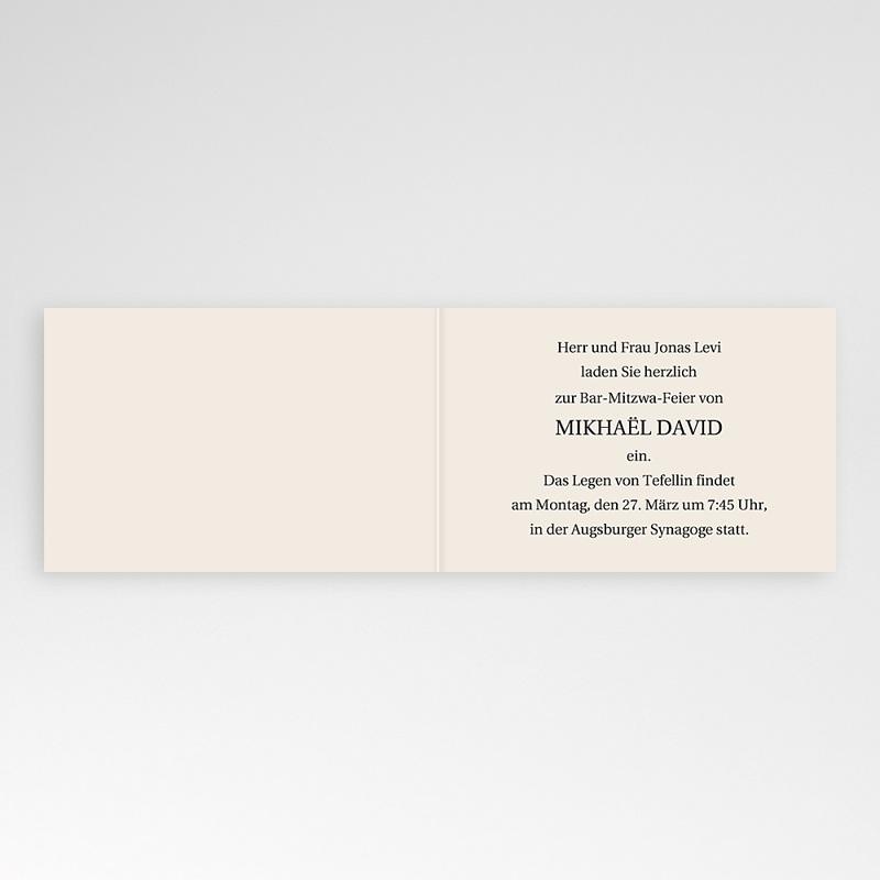 Einladungskarten Bar Mitzwah Kerzenschein pas cher