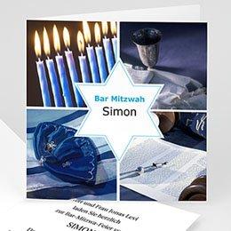 Karten Bar Mitzvah Stern